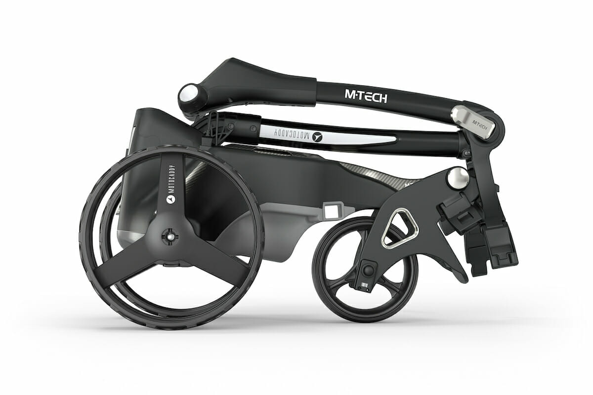Motocaddy M-TECH : A new luxury compact trolley combining performance with striking design