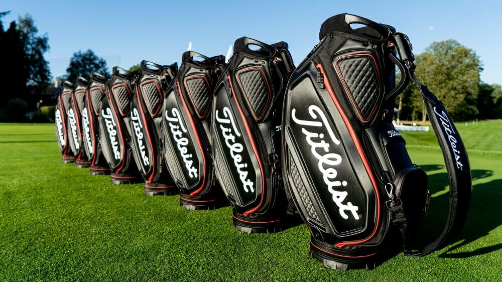 Dunne amongst Tour Professionals sporting a new Jet Black Titleist look at Wentworth