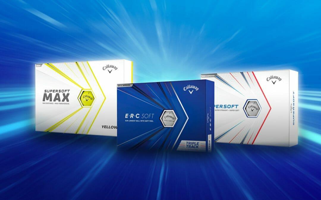 Callaway introduce new ERC Soft, Supersoft and Supersoft Max golf balls