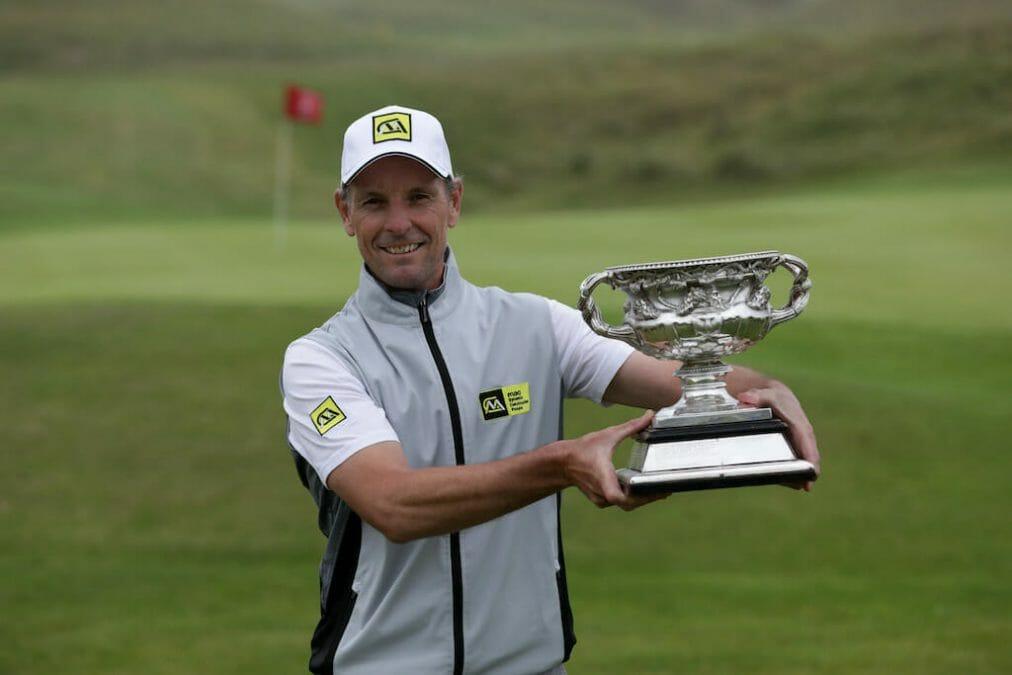 Higgins hangs tough to claim second Irish PGA crown