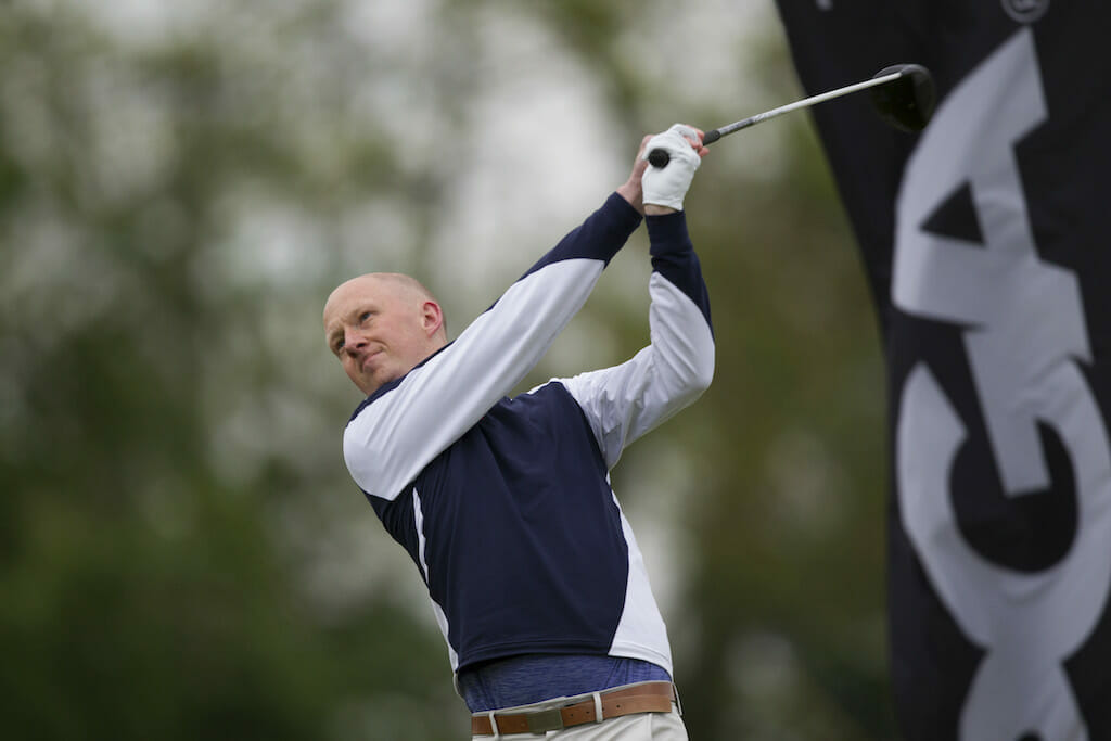 Staunton defies the weather to take two shot lead at Carne