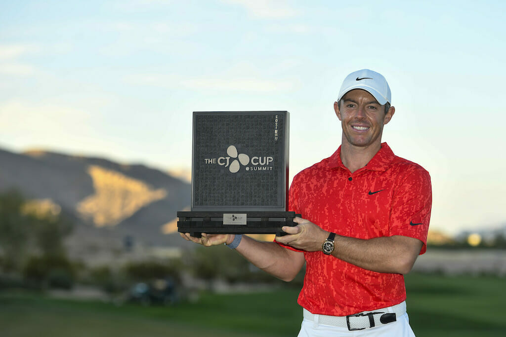 Mighty McIlroy completes milestone CJ Cup victory